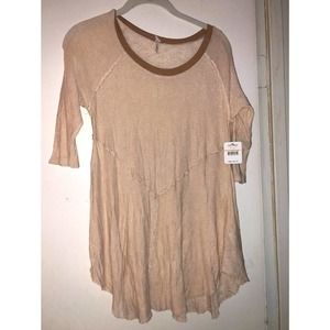 Free People NWT Beige Blouse S